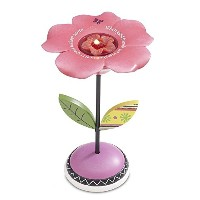 Groovy Garden by Pavilion 67146 Tea Light Candleholder, Flower Design [並行輸入品]