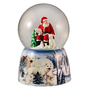 Santa with Animal Friends Water Globe San Francisco音楽ボックス