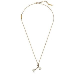 "Marc Jacobs Pearl Rope Cherry Necklace , 24 "" + 2 "" Extender"