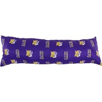 """College Covers LSU Tigers Printedボディ枕、20"""" x 60"""""""