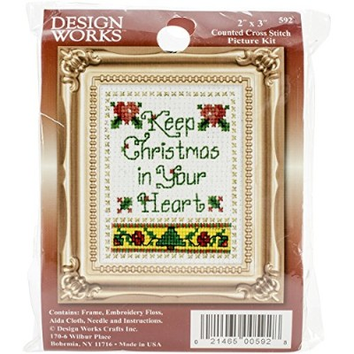"""Christmas In Your Heart Ornament Counted Cross Stitch Kit-2""""X3"""" (並行輸入品)"""