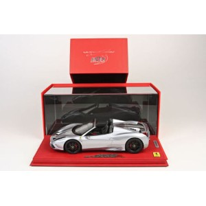 BBR 2014 Ferrari 458 Speciale A Open Silver alloy w/display 1/18 フェラーリ[USA直輸入][大人のミニカー][プレゼントにおすすめ]...
