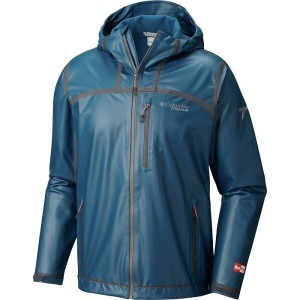 コロンビア メンズ アウター レインコート【Titanium Outdry Ex Stretch Hooded Shell Jackets】Phoenix Blue