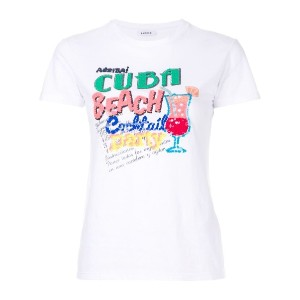 P.A.R.O.S.H. - sequinned Cuba embroidery T-shirt - women - コットン/PVC/Sequin - XS