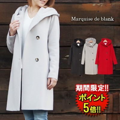 【Marquise de blanc】 HOOD COAT (C021757103) Lady's 4color □