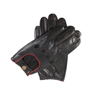デンツ メンズ 手袋・グローブ【leather touchscreen driving gloves】Black/berry