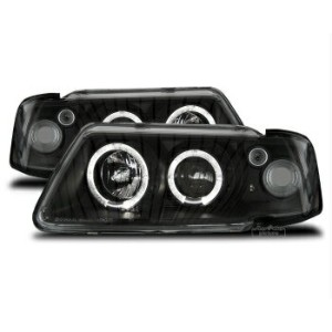 アウディ ヘッドライト LED Angel Eyes headlight set in black finish fit for Audi A3 8L 96-00 アウディA3 8L...