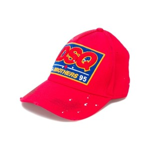Dsquared2 - embroidered patch baseball cap - men - コットン - ワンサイズ