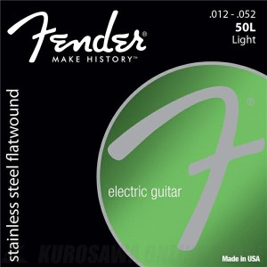 Fender Stainless Flatwounds(12-52)《エレキギター弦》【ネコポス】【ONLINE STORE】