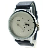 Jikan Tomi Dress Watch (ドレスウォッチ) Analog White/Blue Color Leather Strap Gifs For Men's Women's Boy's...