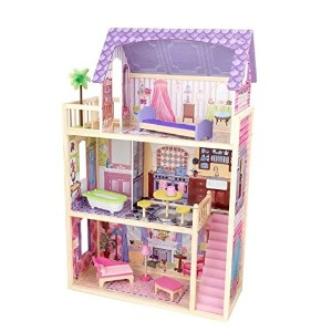 [キッドクラフト]KidKraft Kayla Dollhouse + 10 Pieces of Furniture 65092 [並行輸入品]