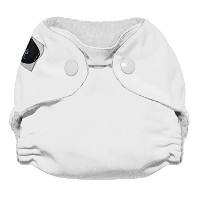 Imagine Baby Products Newborn Stay Dry All-In-One Snap Cloth Diaper, Snow by Imagine Baby Products