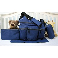 SoHo Daddy, Grand Central 4 pieces Diaper Bag set *Limited time offer !* (ROYAL NAVY) by SoHo...