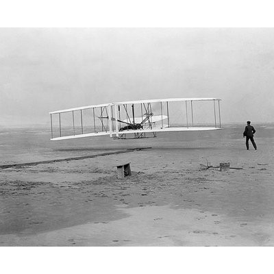 写真プリント The Wright Brothers' First Flight at Kitty Hawk, NC, December 17, 1903