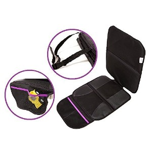 Purely Plush Baby Car seat Protector Mat - Single - durable mat - Black in color with Purple...