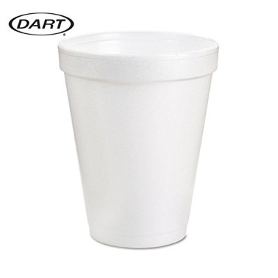 8 Oz White Disposable Coffee Foam Cups Hot and Cold Drink Cup by Go Party