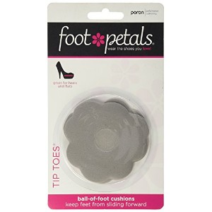Foot Petals Tip Toes Ball of Foot Cushions-Silver Rose Color by Foot Petals