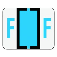 A-Z Color-Coded Bar-Style End Tab Labels, Letter F, Blue, 500/Roll (並行輸入品)