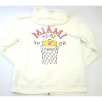 NBA Miami Heat Women 's 1988チームロゴZipパーカーby Junk Food ( Large )