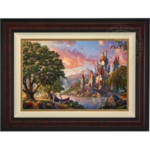 """Beauty and the Beast II–Thomas Kinkadeディズニー18"""" x 27""""標準Numbered ( SN ) Limited Editionキャンバス..."""