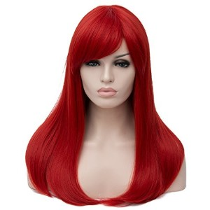 Aicos Alacos 50 cm Straight Synthetic Heat Resistant Full Head Wig for Women Natural Soft Daily...