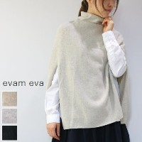 evam eva(エヴァムエヴァ) shirt poncho 3colormade in japanv173k949