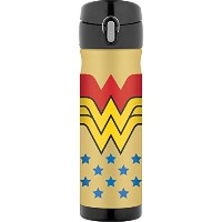 (Wonder Woman) - Thermos 470ml Stainless Steel Commuter Bottle, Wonder Woman