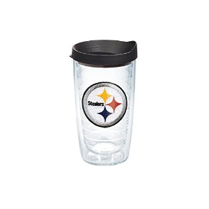 Tervis NFL個々Tumbler with Lid 16-Ounce クリア LBLK-I-16-PITT