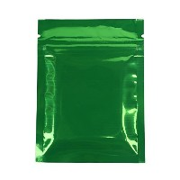 100x Premium Double-Sided Foil Mylar Flat Ziplock Bag 7.5x10cm (3x4) (Green) by QQ Studio