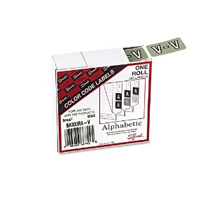 Single Digit End Tab Labels, Number 2, White-on-Pink, 250/Roll (並行輸入品)