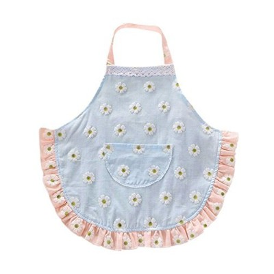 (2T to 3T, Blue) - CRB Fashion Childrens Little Chef Flower Floral Ruffle Girls Toddler Kids Apron...
