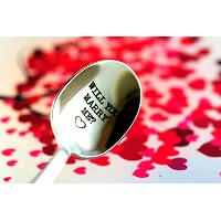 Will You Marry Me刻印スプーンby weenca-best Way for engagement-romantic Ways to propose-suprise予期しない結婚に愛を提...
