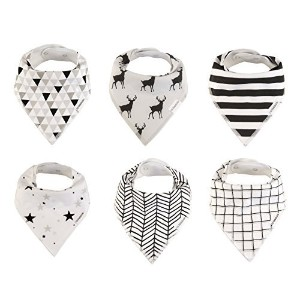 Baby Bandana Drool Bibs Organic for Boys and Girls Absorbent Soft Cotton for Teething Feeding Baby...