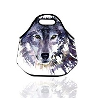 Insulated lunch bag - Watercolor Painting Wolf - Back to School Lunch Bags Gourmet Handbag...