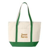 Jesus Saves Personalized刺繍刺繍トートバッグ