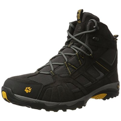 JACK WOLFSKIN MENS VOJO HIKE MID TEXAPORE HIKING BOOTS BURLY YELLOW (UK8 / EU42 / US9)