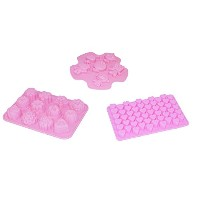 Iriko sfckit Heat Resistant Non StickシリコンMini Hearts Various Shapes and Cartoon Charactersチョコレートカップケ...