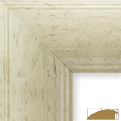 (16 x 20, Off-White Rustic Pine) - Craig Frames 80012 41cm by 50cm Picture Frame, Smooth Wrap...