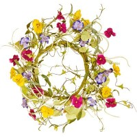 Worth Imports Pansy Wreath、21 ""