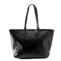 Business Leather Factory 牛本革 トートバッグ ブラックネイビー