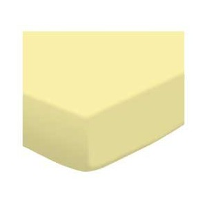 SheetWorld Fitted Pack N Play (Graco Square Playard) Sheet - Soft Yellow Jersey Knit - Made In USA...