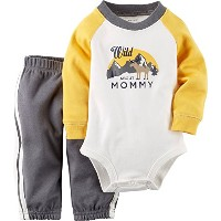 Carters Baby Boys 2-Piece Bodysuit & Pant Set Wild About Mommy 3M by Carter's