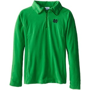 NCAA Notre Dame Fighting Irish Collegiate Glacial II Half Zip Fleece Jacket S グリーン