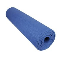 "BSTPOWER TPEヨガマット72 "" x24 "" 1 / 2インチ厚高密度anti-tear Exercise Mat with Carrying Strap Odorフリー ブルー"