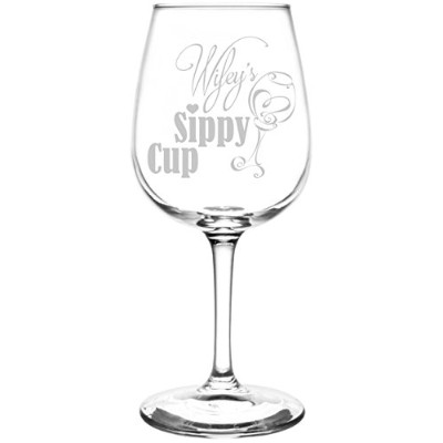 Funny Sippy Cupノベルティプレゼント&ギフトIdea Inspired–レーザー刻印12.75oz Libbey all-purpose Wine Taster Glasses...