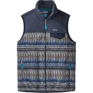 パタゴニア メンズ ベスト トップス Patagonia Men's Lightweight Synchilla Snap-T Vest Laughing Waters / Smolder Blue