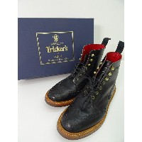 CALEE × TRICKERS 10周年記念モデル COUNTRY BOOTS カントリーブーツ SIZE:UK8 5ウィズ/27cm BLACK CL-14AW001TR Tricker's...