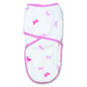 aden by aden + anais Easy Swaddle, Girls-n-Swirls - Butterfly, Large by aden + anais