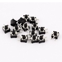 Uxcell a15080400ux1063 Right Angle Push Button Tact Tactile Switch, 4.5 mm x 4.3 mm [並行輸入品]