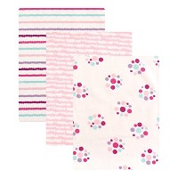 Luvable Friends Flannel 3 Piece Receiving Blankets, Girl Dots by Luvable Friends